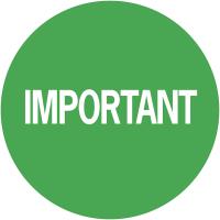 """Pastilles adhésives permanentes à texte """"Important"""""""