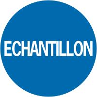 """Pastilles adhésives d'inventaire à texte """"Echantillon"""""""