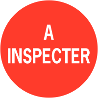 """Pastilles d'inspection adhésives à texte """"A inspecter"""""""