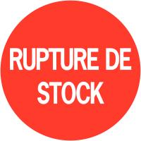 """Pastilles d'inventaire permanentes à texte """"Rupture de stock"""""""