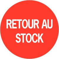 """Pastilles adhésives permanentes à texte """"Retour au stock"""""""