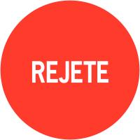 """Pastilles adhésives permanentes à texte """"Rejeté"""""""
