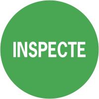 """Pastilles d'inspection adhésives permanentes à texte """"Inspecté"""""""