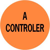 """Pastilles d'inspection avec adhésif permanent """"A contrôler"""""""