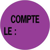"""Pastilles d'inventaire avec adhésif permanent """"Compté le :"""""""