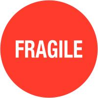 """Etiquettes de colisage avec adhésif enlevable """"Fragile"""""""