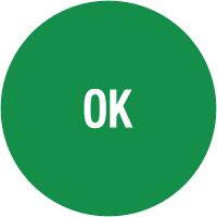 """Pastilles d'inspection avec adhésif enlevable """"OK"""""""