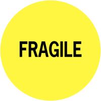 """Etiquettes de colisage avec adhésif permanent Fragile"""""""""""