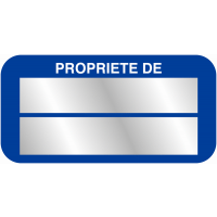 Etiquettes de propriété SetonGuard avec texte