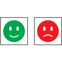 "Autocollants avec symbole ""Smiley"""