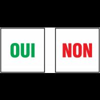 Autocollants avec texte OUI - NON