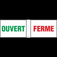 Autocollants avec texte OUVERT - FERME