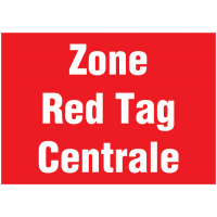 Signalétique murale - Zone Red Tag Centrale