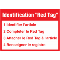 Signalétique murale Red Tag avec instructions