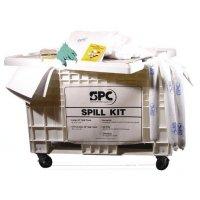 Kits anti-pollution pour liquides industriels en chariot