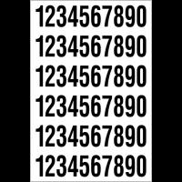 Chiffres seuls ou chiffres et lettres en vinyle adhésif pour usage intérieur