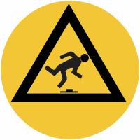 """Marquage de sécurité au sol """"Danger de trébuchement"""""""