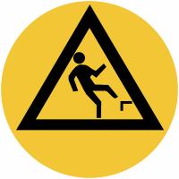 """Marquage de sécurité au sol """"Danger de chute en arrière"""""""