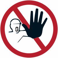 """Marquage de sécurité au sol """"Accès interdit aux personnes non autorisées"""""""
