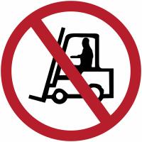 """Marquage de sécurité au sol """"Interdit aux véhicules de manutention"""""""