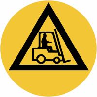 """Marquage de sécurité au sol """"Danger véhicules de manutention"""""""