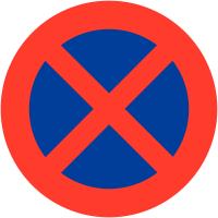 """Pochoir synthétique pour marquage au sol """"Arrêt et stationnement interdits"""""""