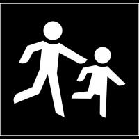 """Pochoir synthétique pour marquage au sol """"Passage d'enfants"""""""