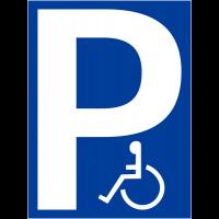"""Pochoir synthétique pour marquage au sol """"Parking handicapés"""""""