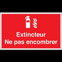 Marquage au sol avec texte et pictogramme - Extincteur - F001
