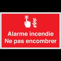 Marquage au sol avec texte et pictogramme - Alarme incendie - F005