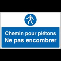 Marquage au sol avec texte et pictogramme - Chemin pour piétons - M024