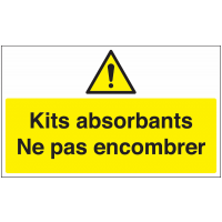 Marquage au sol avec texte pictogramme - Kits absorbants - W001