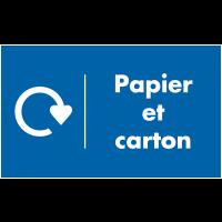 Marquage au sol recyclage - Papier et Carton