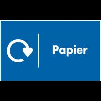 Marquage au sol recyclage - Papier