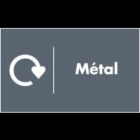 Marquage au sol recyclage - Métal