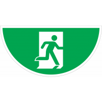"Marquage au sol avec pictogramme "" Evacuation"" -  E002"