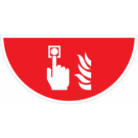 "Marquage au sol  pictogramme ""Alarme incendie"" - F005"