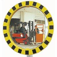 Miroirs de circulation jaunes et noirs pour la zone européenne