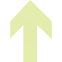 Signalisation de sol photoluminescente en forme de flèche