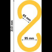 Crochets de sécurité en forme de S pour câbles