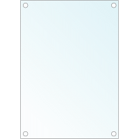 Feuilles pour signalétique de porte en verre trempé
