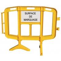 Barrières de chantier incassables avec surface de marquage personnel