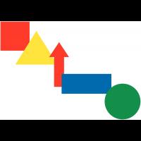 Assortiment de formes magnétiques