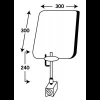 Ecran de protection sur support magnétique