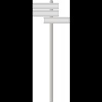 Kit de fixation bi-mâts pour panneaux SILB