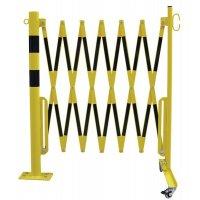 Barrières extensibles sur pied fixe pour entrepôt