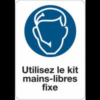 Etiquette pour véhicules - Utilisez le kit mains-libres fixe