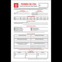 50 permis de feu, documents réglementaires par liasse de 3 feuillets