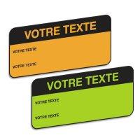Etiquettes d'inspection fluorescentes personnalisables en papier adhésif