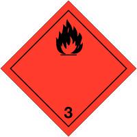 """Etiquettes de transport international """"Liquides inflammables"""" à compléter"""
